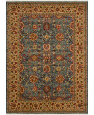 Orwyn Orw1 Blue 6' x 9' Area Rug