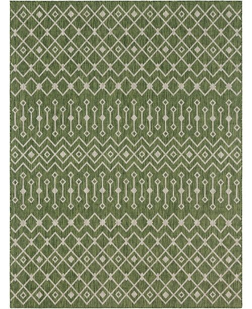 Bridgeport Home Pashio Pas7 Green Area Rug Collection