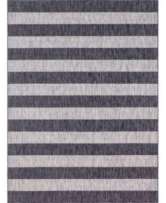 Pashio Pas7 Charcoal Gray 9' x 12' Area Rug