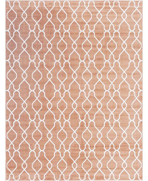 Bridgeport Home Pashio Pas8 Peach Area Rug Collection