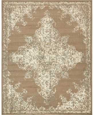 Tabert Tab7 Brown 8' x 8' Round Area Rug