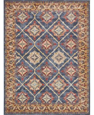 Shangri Shg1 Light Blue 2' x 6' Runner Area Rug