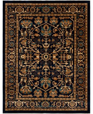 Thule Thu1 Navy Blue 8' x 10' Area Rug