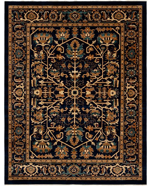 Bridgeport Home Thule Thu1 Navy Blue Area Rug Collection