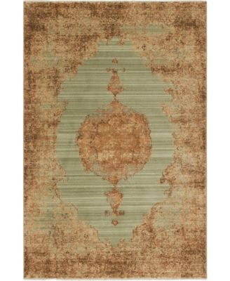 Thule Thu2 Light Green 4' x 6' Area Rug