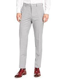 HUGO Hugo Boss Men's Extra-Slim Fit Light Gray Sharkskin Suit Pants