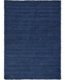 Exact Shag Exs1 Navy Blue Area Rug Collection