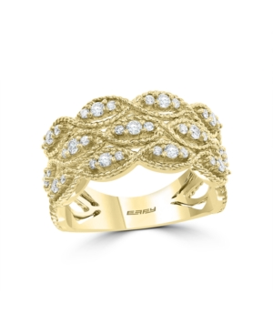D'Oro By Effy Diamond (1/2 ct. t.w.) Ring in 14k Yellow Gold