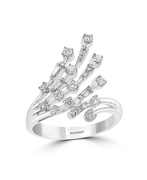 EFFY Collection Pave Classica By EFFY Diamond (5/8 ct. t.w.) Ring in 14k White Gold