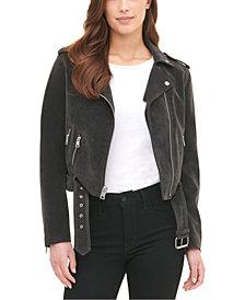Levi's® Women's Belted Faux Suede Moto Jacket