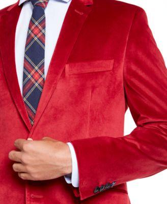 Billy London Mens Slim Fit Velvet Blazer Blazer