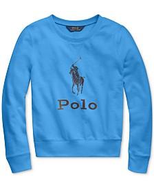 Polo Ralph Lauren Big Girls Athletic Terry Logo Sweatshirt