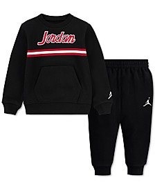 Jordan Toddler Boys 2-Pc. Fleece Taping Sweatshirt & Jogger Pants Set