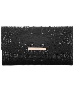 Modern Melbourne Embossed Leather Checkbook
