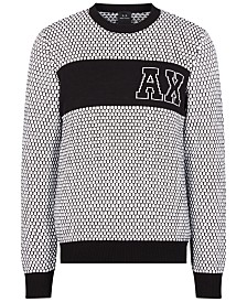 A|X Armani Exchange Men's Tiled Logo Sweater