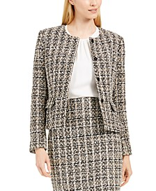 Collarless Tweed Jacket