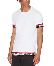 A|X Armani Exchange Men's Logo Trim T-Shirt