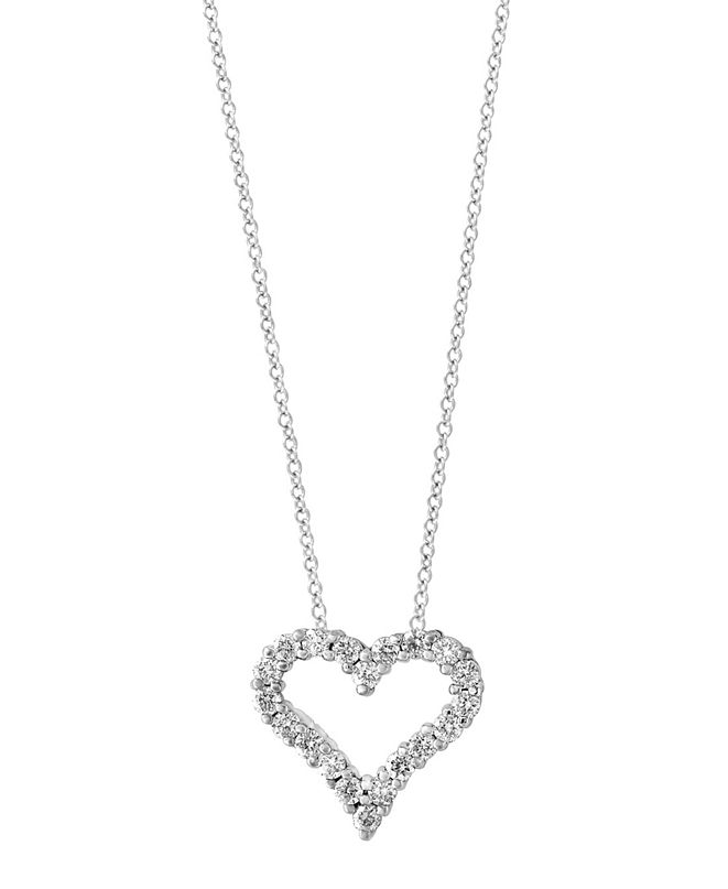 EFFY Collection Pave Classica By EFFY Diamond (1/2 ct. t.w.) Pendant in 14k White Gold
