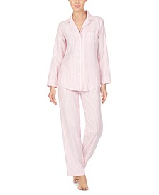 Petite Striped Herringbone Pajamas Set