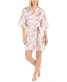 Brenna Printed Wrap Robe