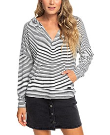 Roxy Juniors' Sweet Thing Striped Hoodie