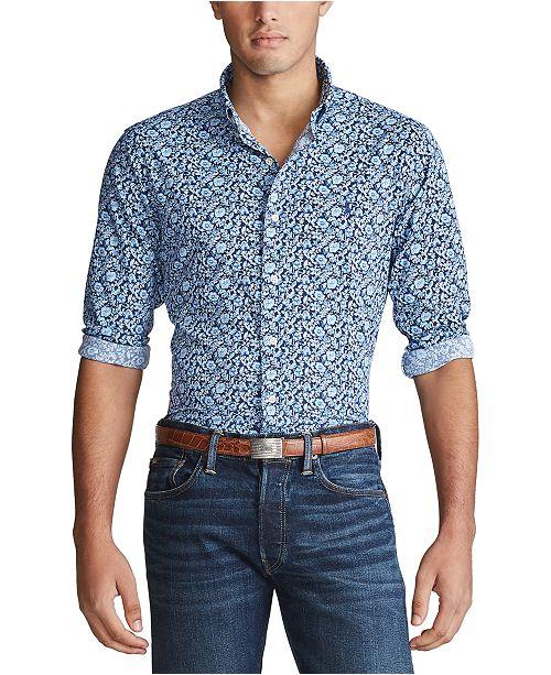 Polo Ralph Lauren Men's Big & Tall Print Performance Shirt