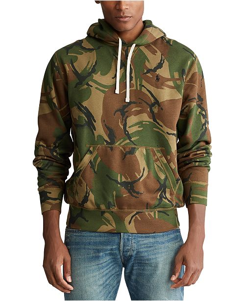 Polo Ralph Lauren Men's Big & Tall Camo Fleece Hoodie