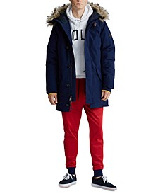 Men's Big & Tall Faux-Fur-Trim Down Parka