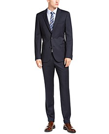 HUGO Hugo Boss Men's Slim-Ft Navy Blue Stripe Suit Separates