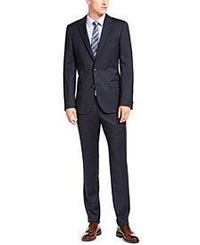 HUGO Hugo Boss Men's Slim-Ft Navy Blue Stripe Suit Separates