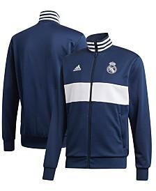 adidas Men's Real Madrid Club Team Three Stripe Track Jacket