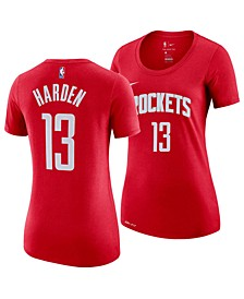 Women's James Harden Houston Rockets Name and Number Player T-Shirt