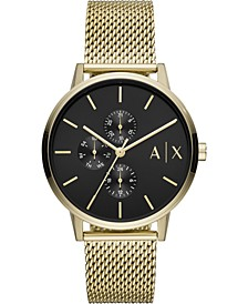 Men's Cayde Gold-Tone Stainless Steel Mesh Bracelet Watch 42mm