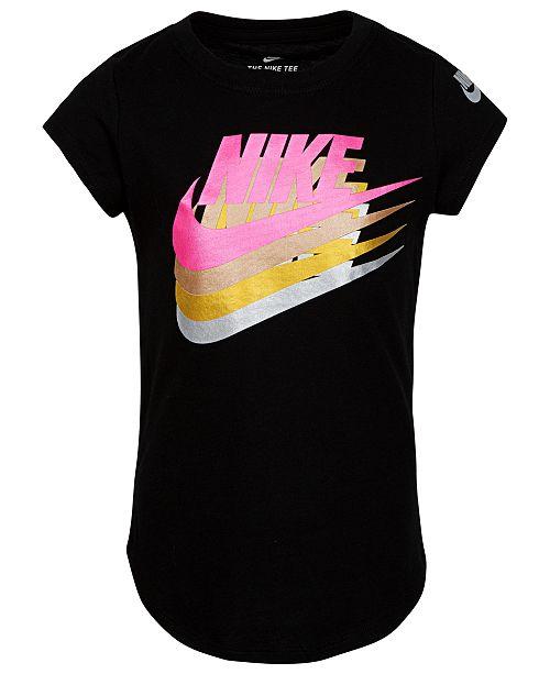 Nike Toddler Girls Futura-Print Cotton T-Shirt