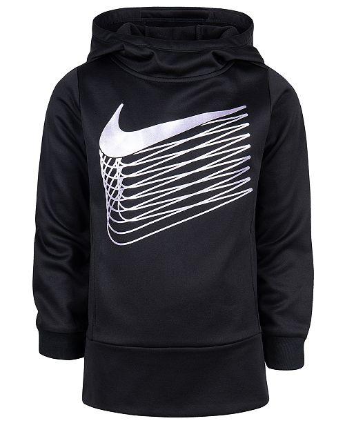 Nike Toddler Girls Metallic Logo Therma Fleece Hoodie