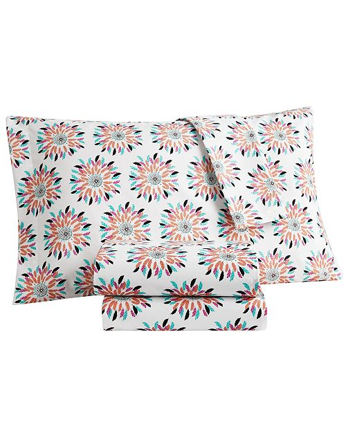 Sanders Wild and Free Twin Printed 3 Piece Sheet set