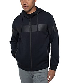 Men's Regular-Fit Colorblocked Stripe Full-Zip Hoodie