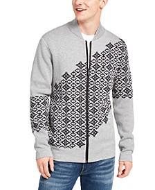 Men's Fair Isle Full-Zip Graphic Sweater