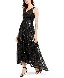 Sequined High-Low Gown