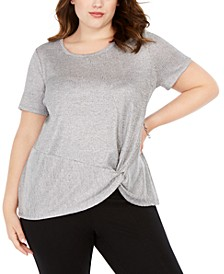 INC Plus Size Twist Front Top, Created for Macy's