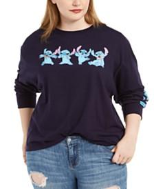 Modern Lux Trendy Plus Size Cotton Stitch Graphic T-Shirt