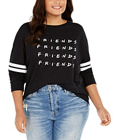 Trendy Plus Size Cotton Friends Graphic T-Shirt