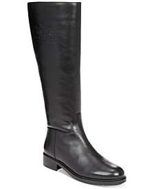 Women's Raee Riding Wide Calf Leather Boots