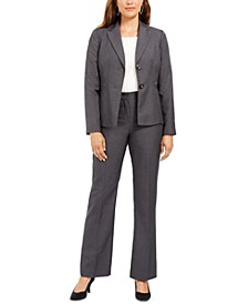 Notched-Lapel Pants Suit