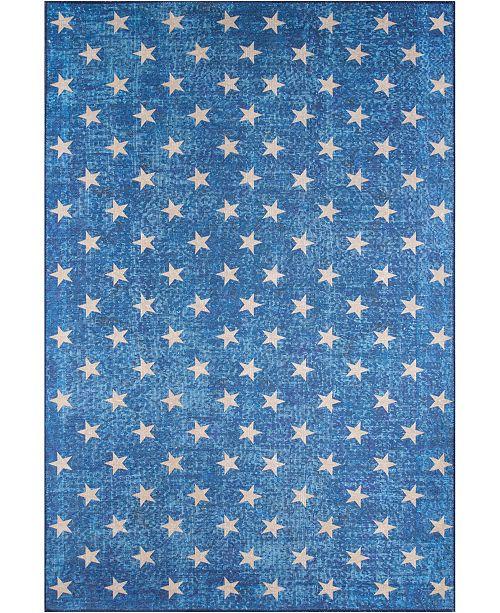 Novogratz Collection Novogratz District Dis-7 Blue Area Rug Collection