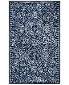 Etienne LRL6603N Navy and Ivory Area Rug Collection