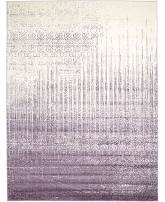 Lyon Lyo2 Purple 7' x 10' Area Rug