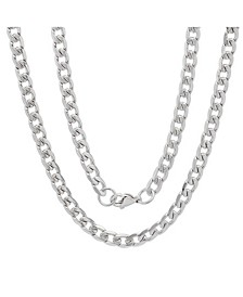 "Men's Stainless Steel Accented 6mm Cuban Chain 24"" Necklaces"