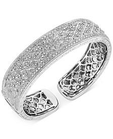 Diamond Filigree Cuff Bracelet (1 ct. t.w.) in Sterling Silver