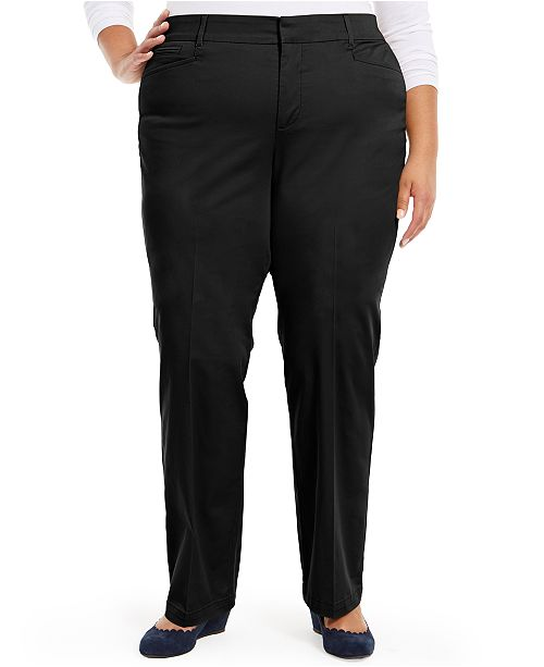 Charter Club Plus Size Tummy Control Trouser Jeans, Created for Macy's